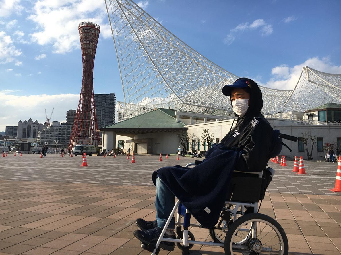 誕生日に友達(ホームレス小谷さん達)とかっこいい車椅子でUSJに行きたい!!